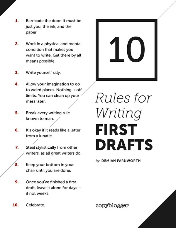 first drafts poster 2 Writing novice? 6 best pieces of advice from successful authors