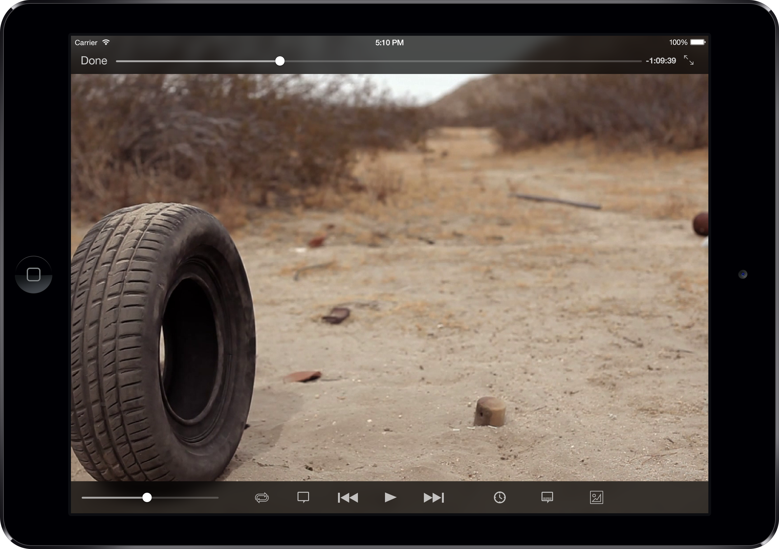 ipad air black landscape player 2 VLC gets iOS 7 redesign, Google Drive integration, Dropbox streaming, the ability to download files, and more