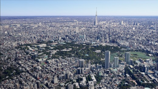 tokyo 03 520x292 Tokyo just became more real on Google Maps with new 3D imagery