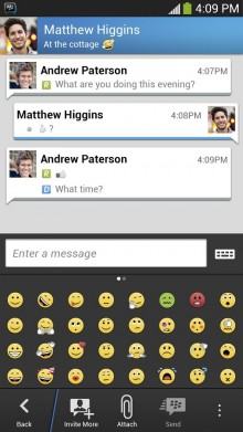 unnamed 220x391 BlackBerry announces BBM for Android Gingerbread users will be launching in February