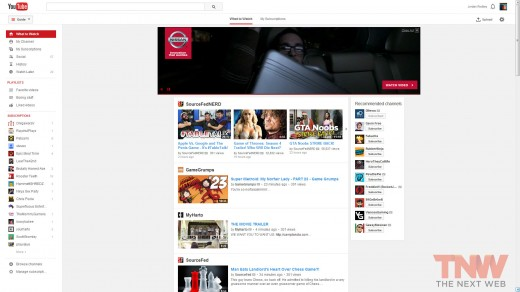 whattowatch tnwlogo 520x292 Here's a look at YouTube's latest experiment: a cleaner interface with more focus on videos
