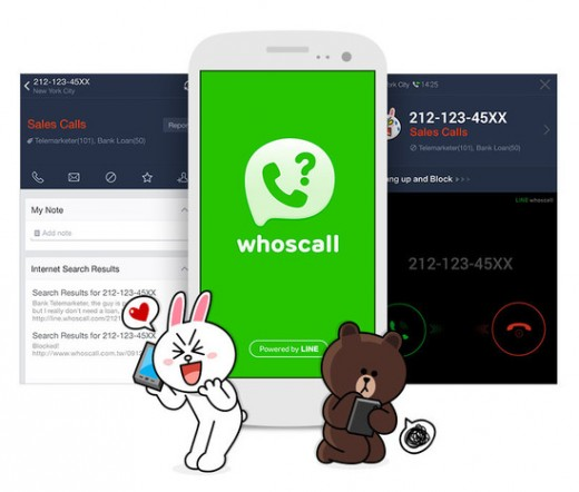 whoscall 520x442 Messaging company Line releases caller ID app for Android, iOS version coming later