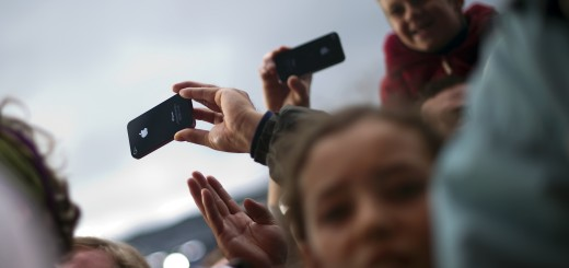 Festival-goers use their iPhones to reco