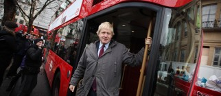 Mayor Of London Boris Johnson Marks The Arrival Of The First New Bus For London