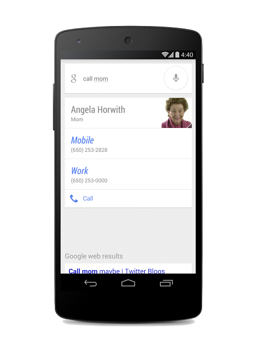 Call Mom Googles voice search on Android now lets you set and refer to relationships for your contacts