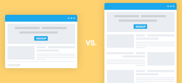 Long vs. Short Landing Pages