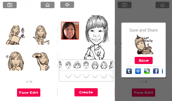 MomentCam GIF 730x431 You can now create your own comic style animated GIFs on Chinese photo app MomentCam