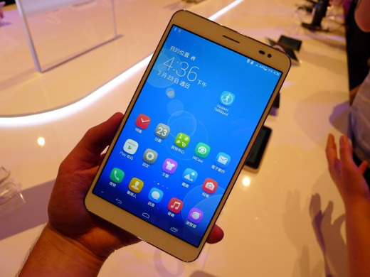 P1040988 520x390 Huawei launches pocket friendly MediaPad X1 and M1 Android tablets at MWC 2014