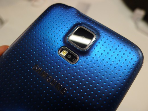 P1050089 520x390 Samsung Galaxy S5 hands on: Is the fingerprint scanner and heart rate monitor just a gimmick?