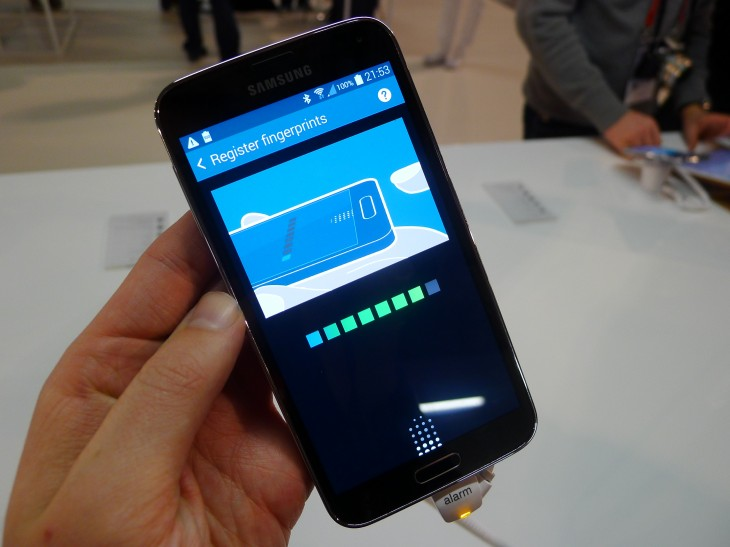 P1050126 730x547 Samsung Galaxy S5 hands on: Is the fingerprint scanner and heart rate monitor just a gimmick?