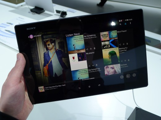 P1050254 520x390 Sony Xperia Z2 Tablet hands on: A remarkably slim, light and powerful 10.1 inch Android slate