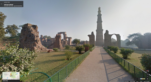Qutb Minar 520x283 You can now explore the Taj Mahal and other Indian monuments through Google Street View
