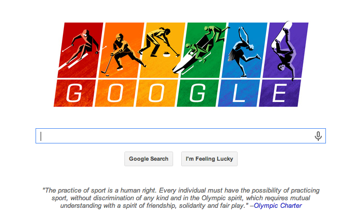 Screen shot 2014 02 07 at PM 12.51.55 Google takes a shot at Russias anti gay law with new doodle for Sochi Winter Games
