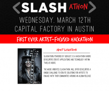 Slashathon 220x183 Legendary guitarist Slash will hold a music focused hackathon at SXSW