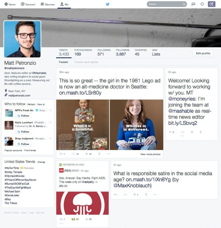 TwitterLayout1 730x754 Twitters latest profile redesign highlights its struggle to balance accessibility with simplicity