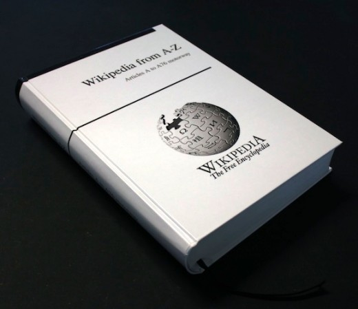 Wikipedia Book 520x449 This Indiegogo project wants to print an instantly out of date Wikipedia in 1,000 books