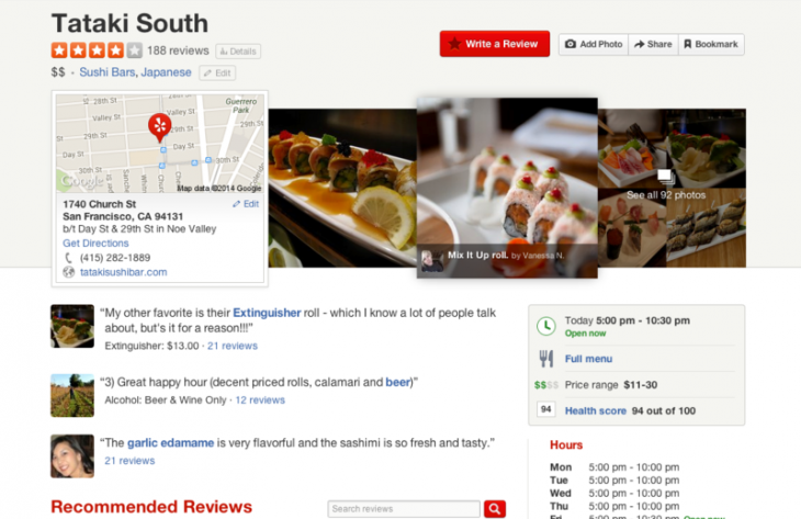 Yelpie 730x473 Yelp puts photos front and center with new design