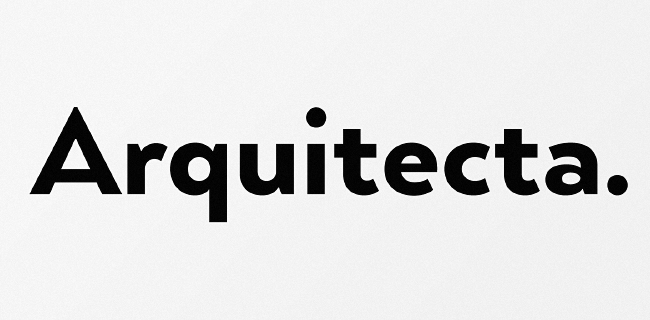 arquitecta The best typefaces from this past month