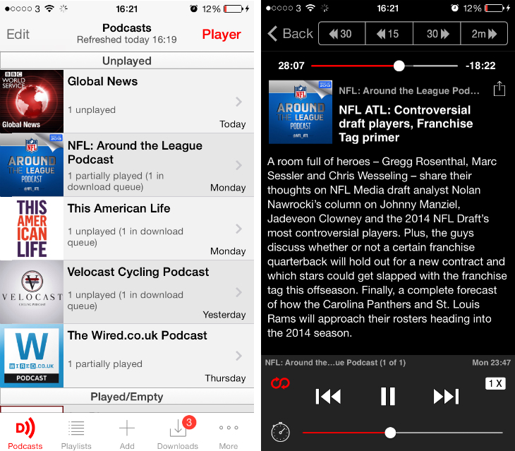 downcast1 9 of the best podcast apps for the iPhone and iPad