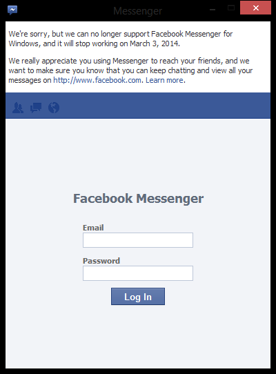 facebook messenger end