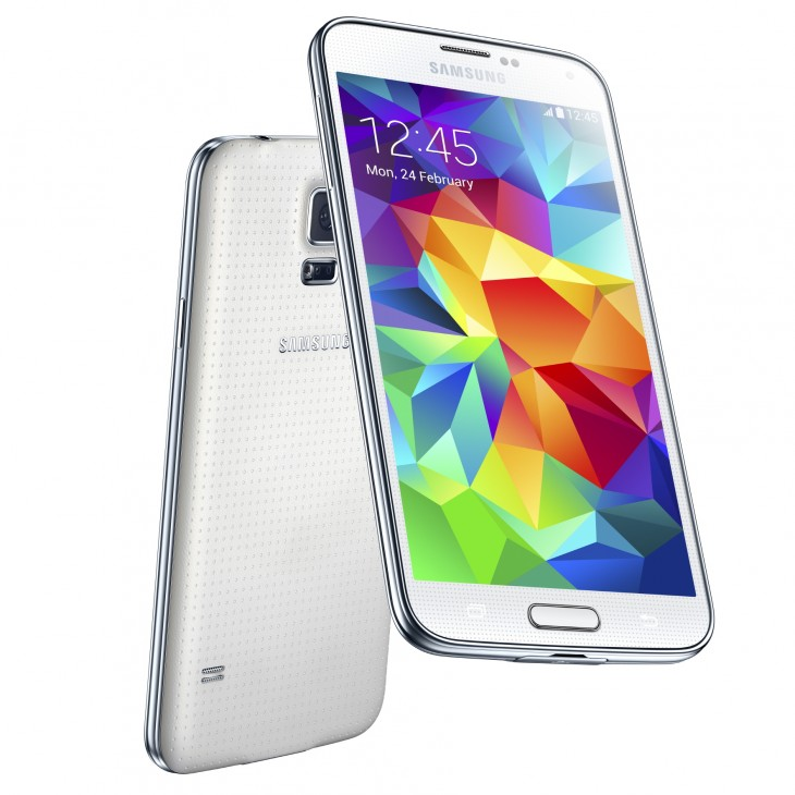galaxy s5 white 730x730 Samsungs Galaxy S5 is official: 5.1 display, fingerprint scanner, heart rate monitor, and more
