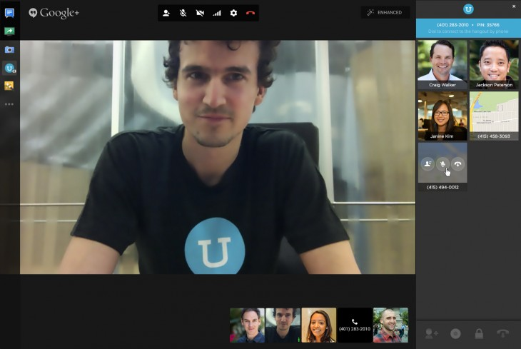 hangout screenshot 730x489 UberConference turns Google Hangouts into a conference calling system