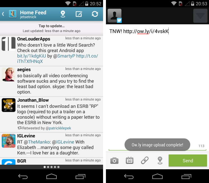 hs Fed up with Twitters official Android app? Try these alternatives