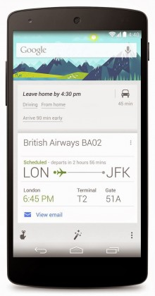 Google Now on Android gets smarter time to leave cards, Ok, Google hotword in the UK and Canada