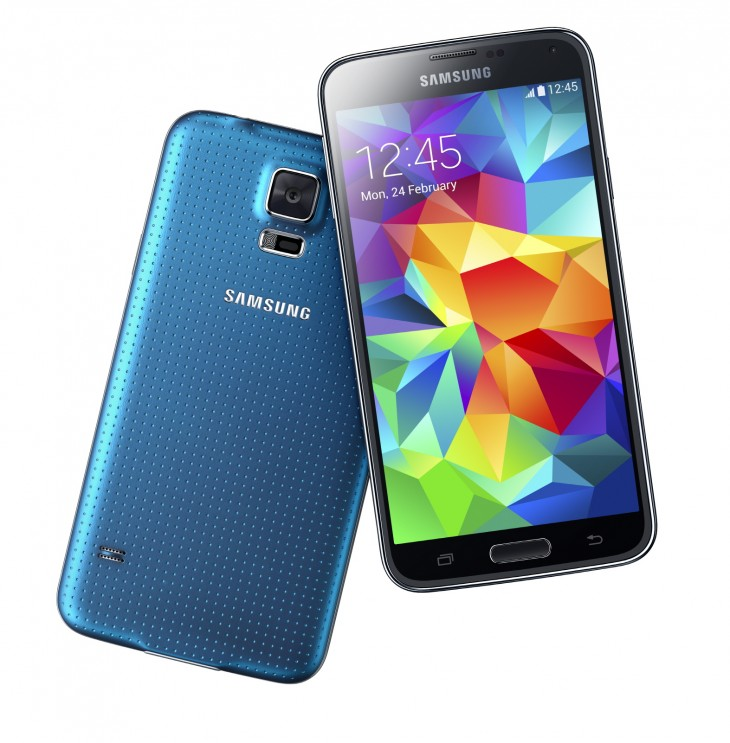 samsung galaxy s5 blue 730x743 Samsungs Galaxy S5 is official: 5.1 display, fingerprint scanner, heart rate monitor, and more