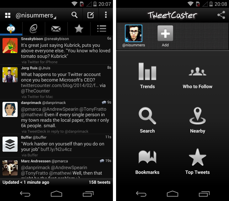 tweetcast Fed up with Twitters official Android app? Try these alternatives