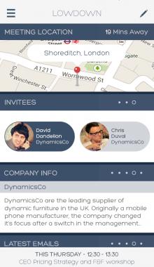 Meetings 220x380 The lowdown on Lowdown: The iPhone app for smarter meetings