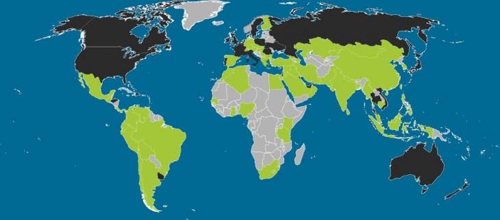 iOS vs Android na mapě světa