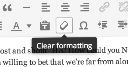 how to clear formatting in word