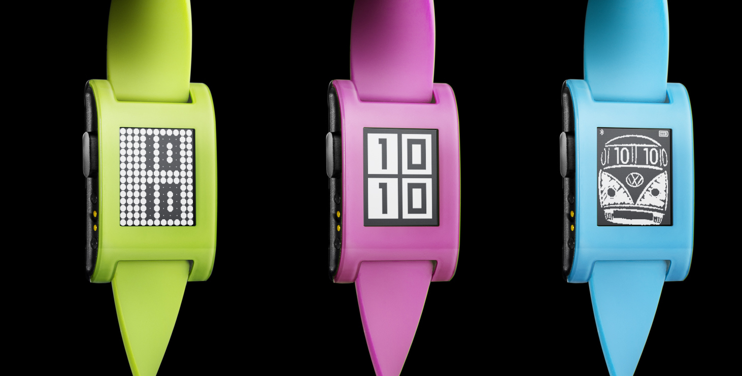 Pebble Launches Neon Green, Blue and Pink Smartwatches