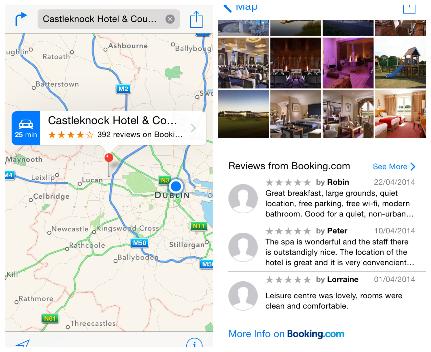 apple maps adds reviews  bookingcom  tripadvisor