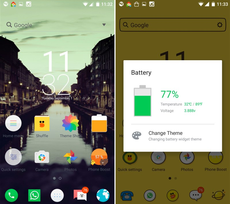 Line launcher tricks out your android home screen with for Wallpaper home launcher