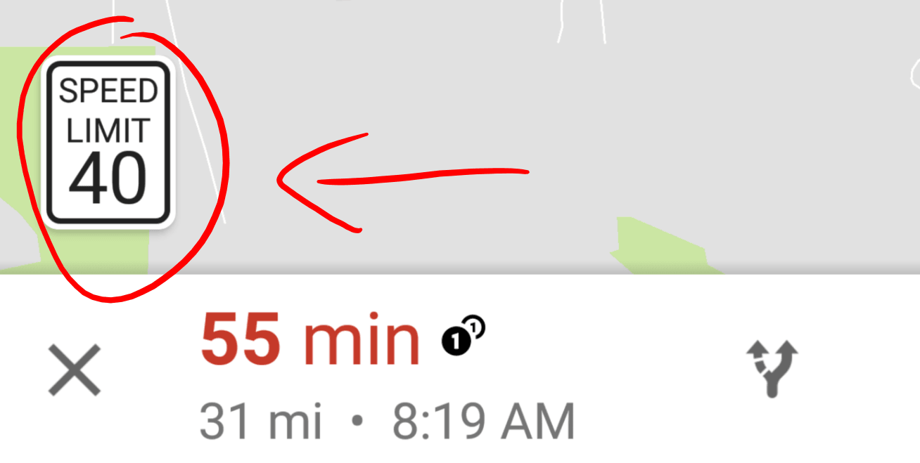 Google Maps Tests Showing Speed Limits Finally