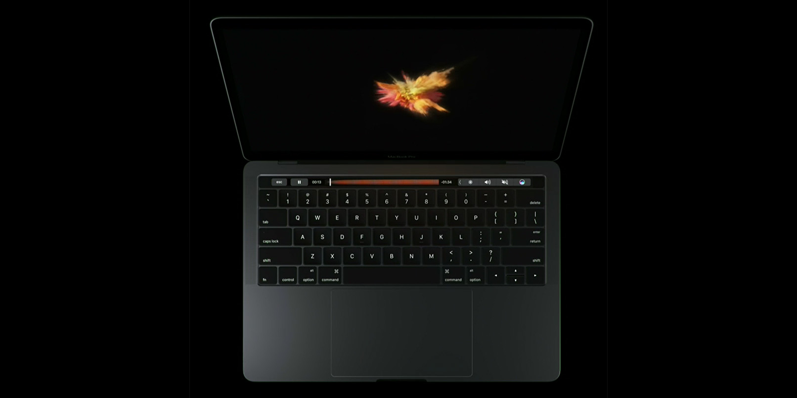 how to turn the new macbook pro on and off