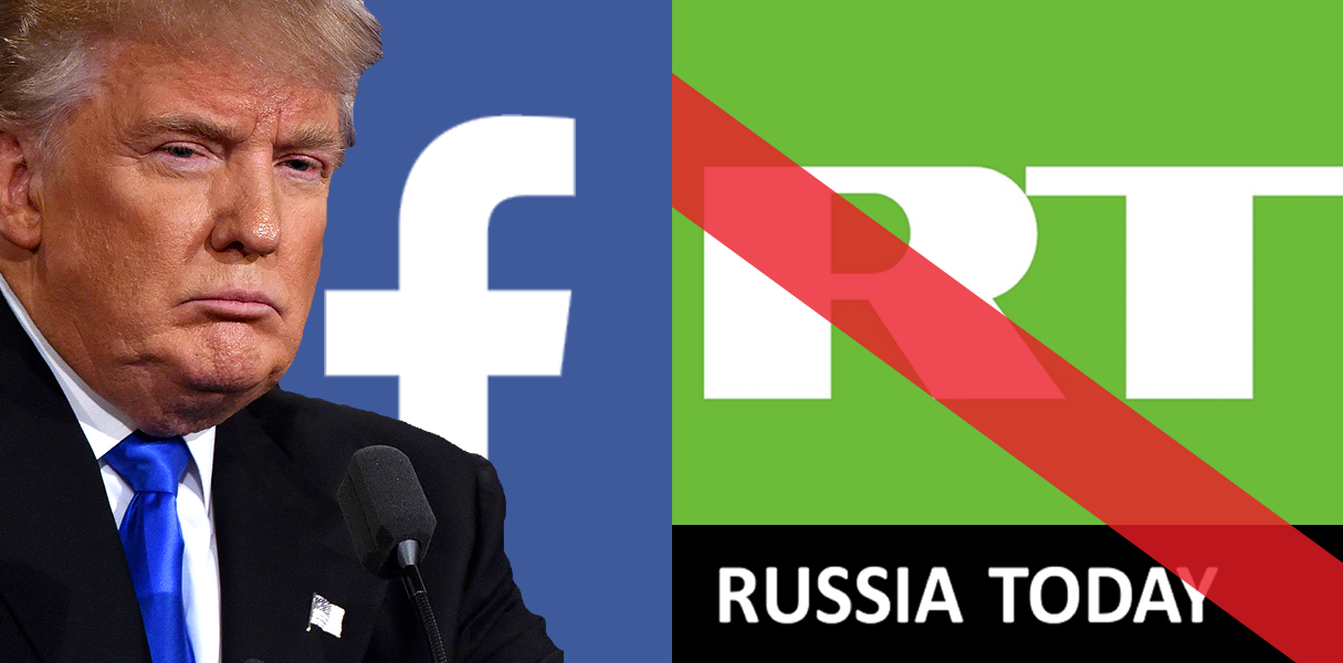 Facebook blocks Russian 'news' media RT until after Trump inauguration