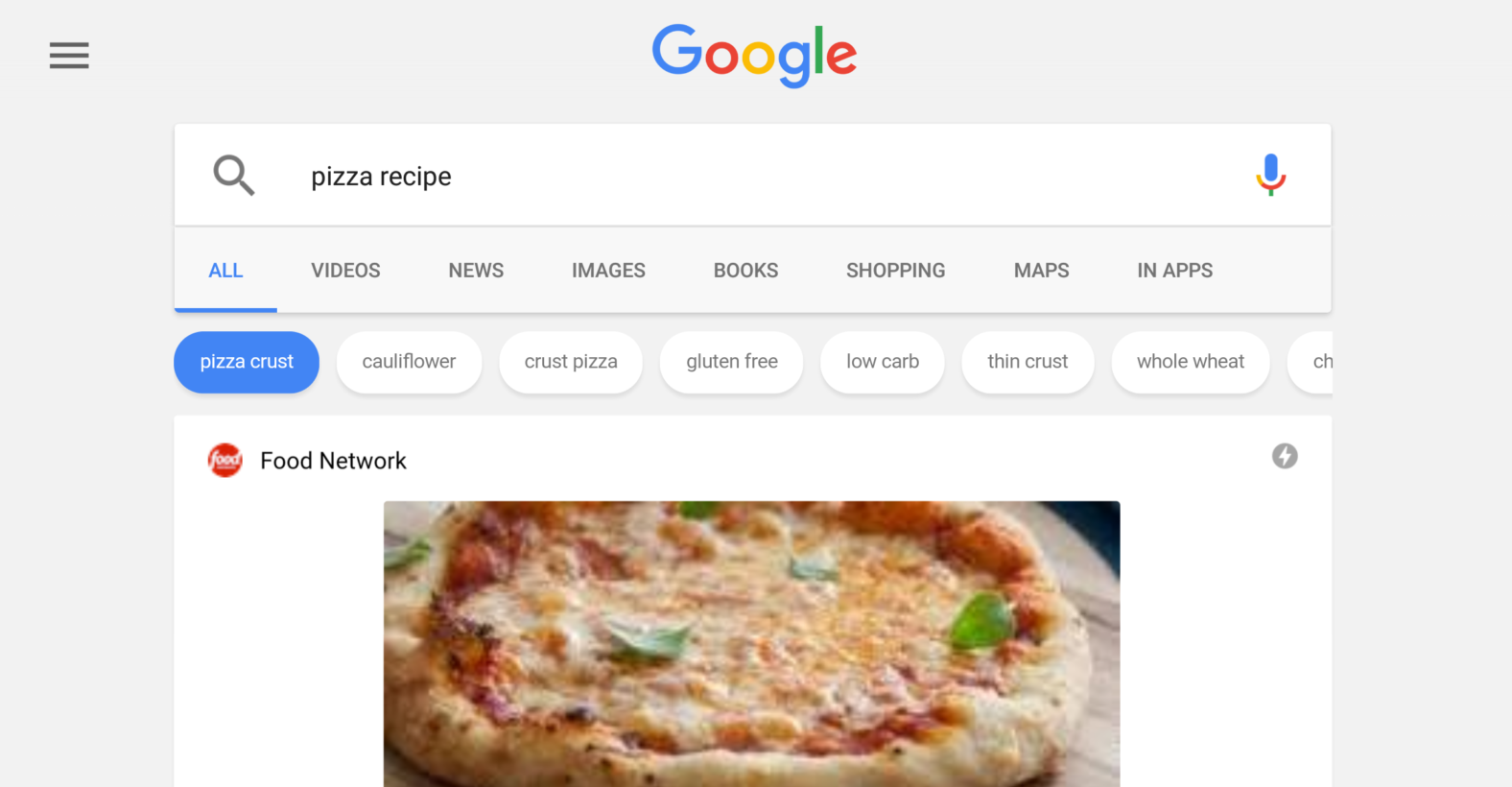 Google cooks up advanced recipe search