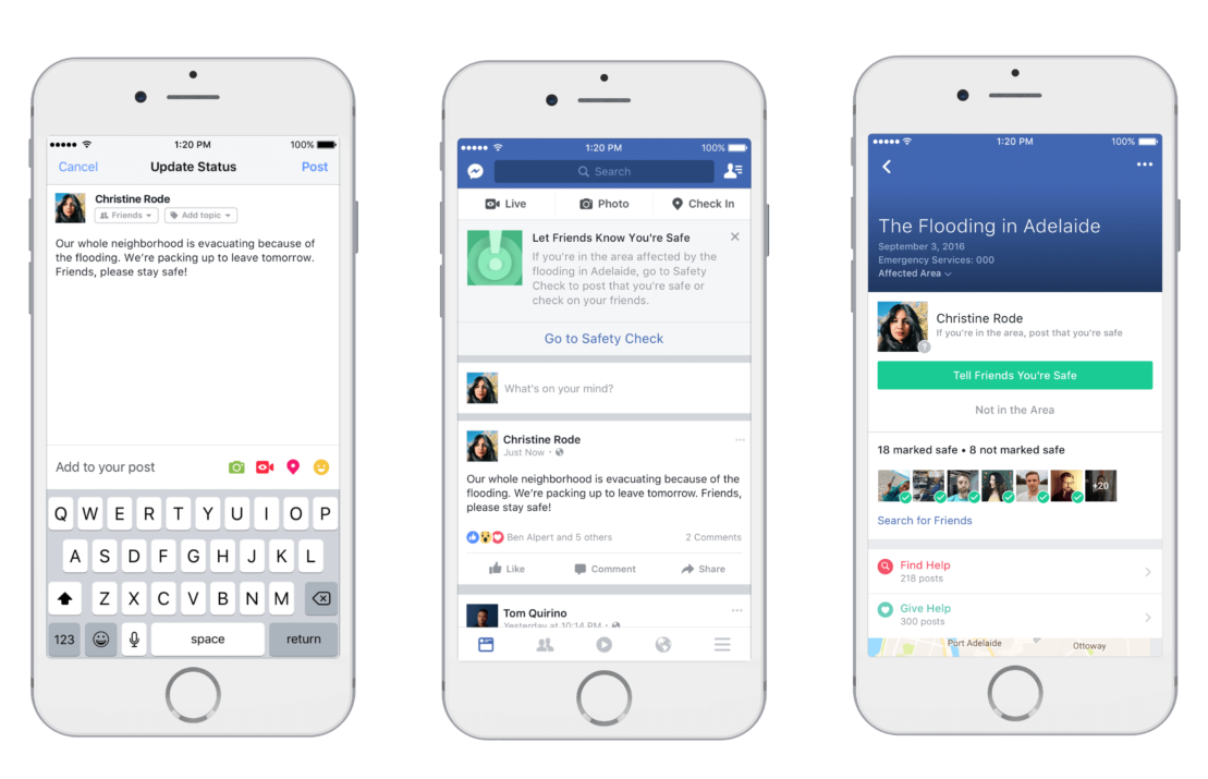 Facebook's Safety Check now helps you find and offer help in