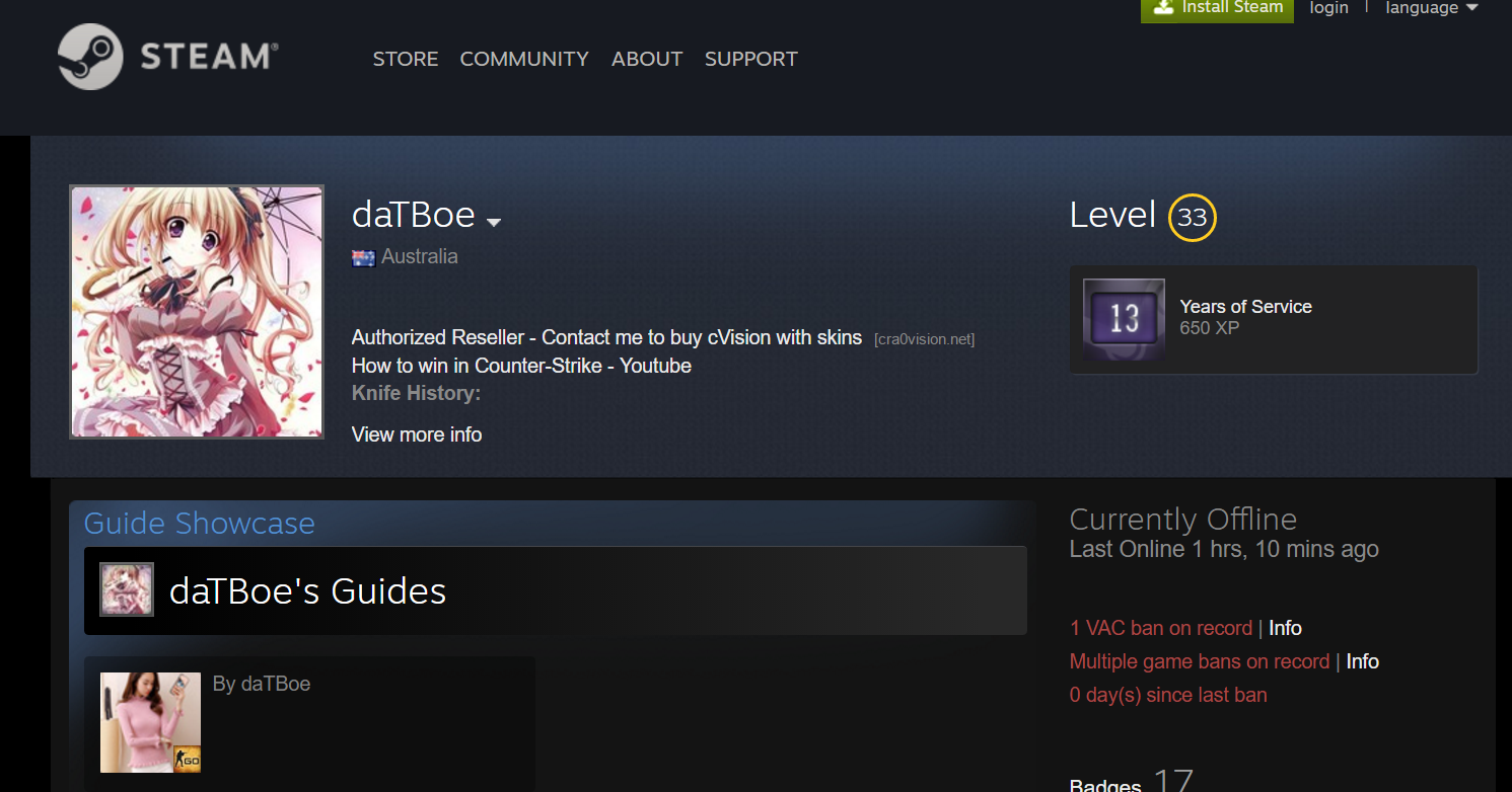 Someone Just Discovered a Serious Security Vulnerability in Steam Profiles