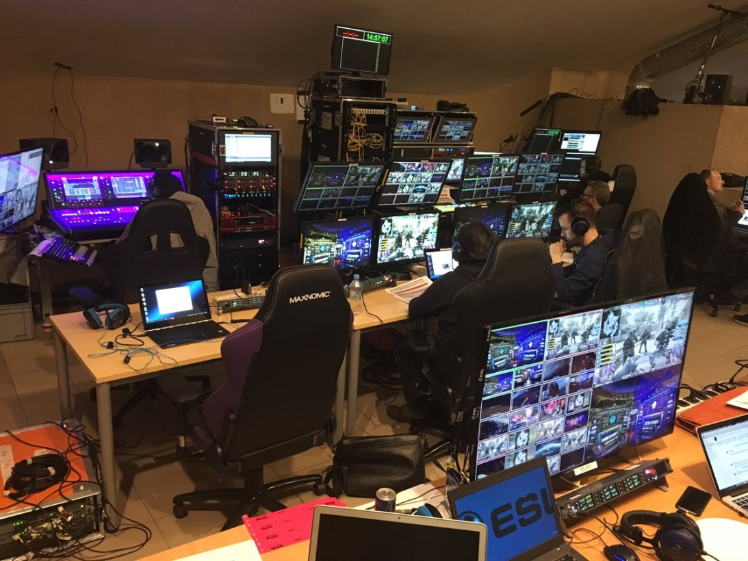 The control room backstage at IEM 2017