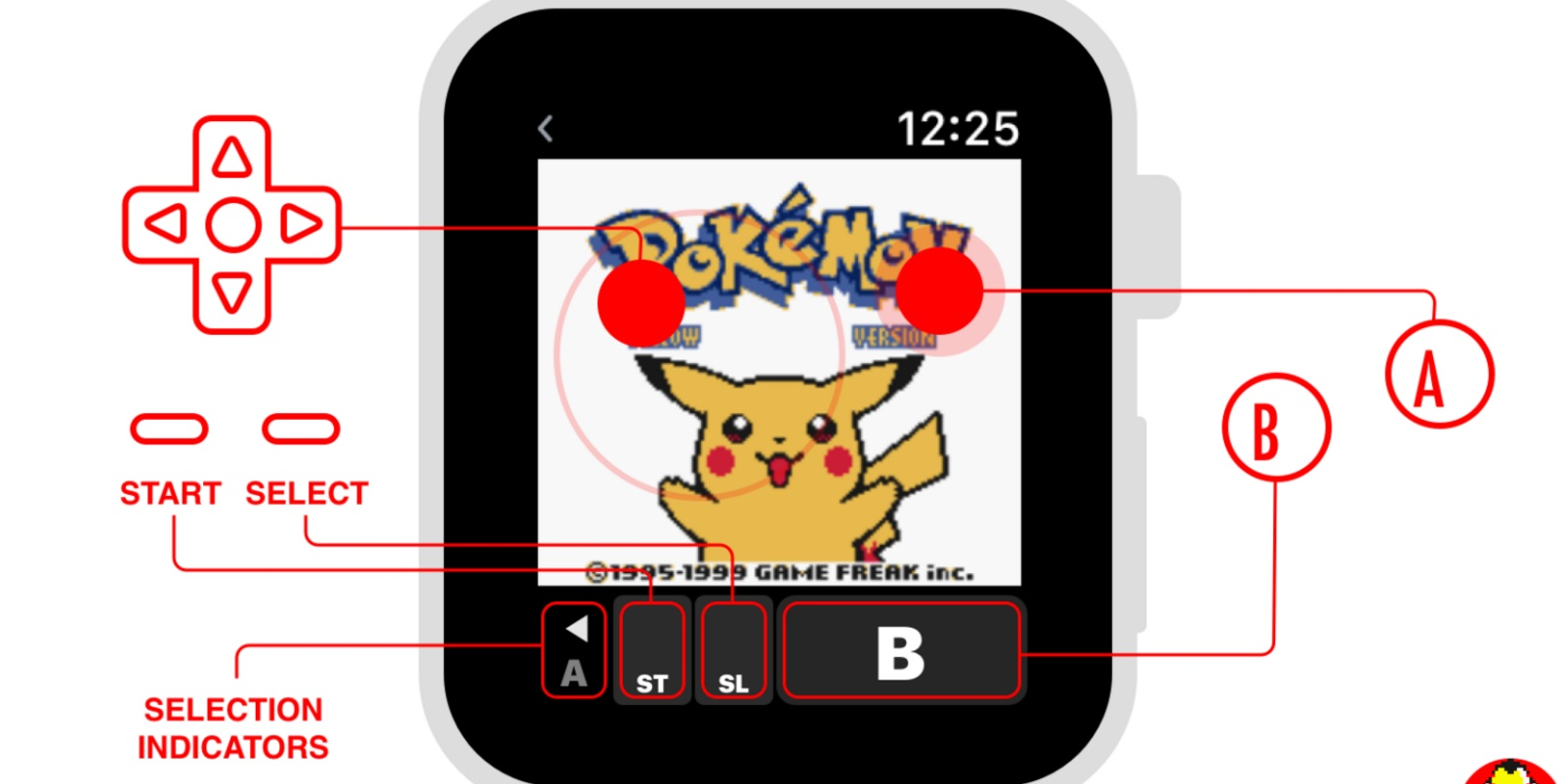 photo image Get your retro Pokémon fix with this Gameboy emulator for Apple Watch