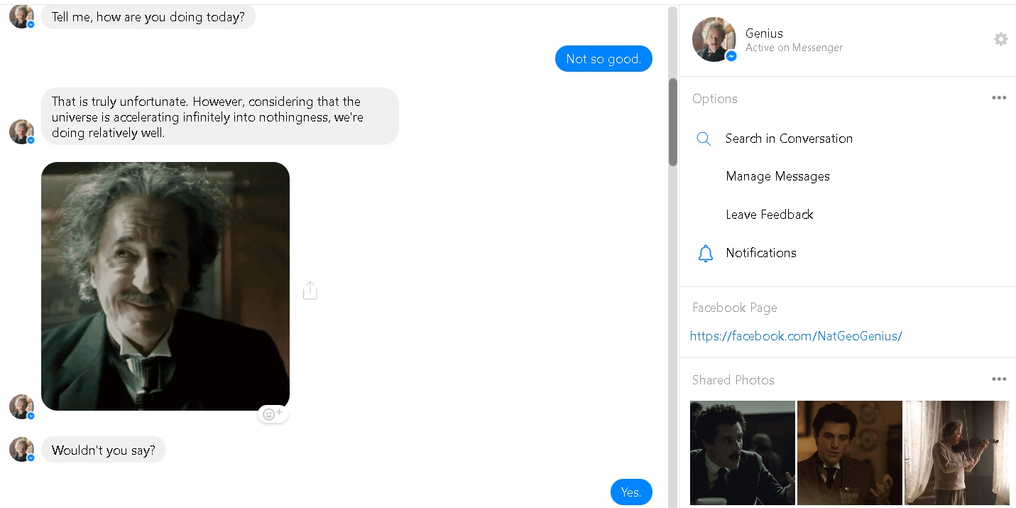 Einstein Chatbot Shows Facebook Messenger's Potential as an Educational Tool