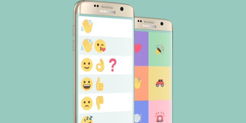 Samsung's emoji-based chat app for people with language disorders is here